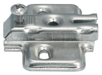 Häfele Kreuzmontageplatte H1433 Metallamat A Stahl vernickelt