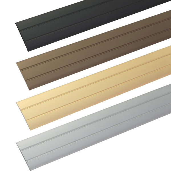 Übergangsprofil aus Aluminium Flach selbstklebend 37 x 2,5 mm