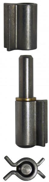 Türwinkelband 2-teilig mit Winkellappen Anschweißscharnier 2 x 50 mm