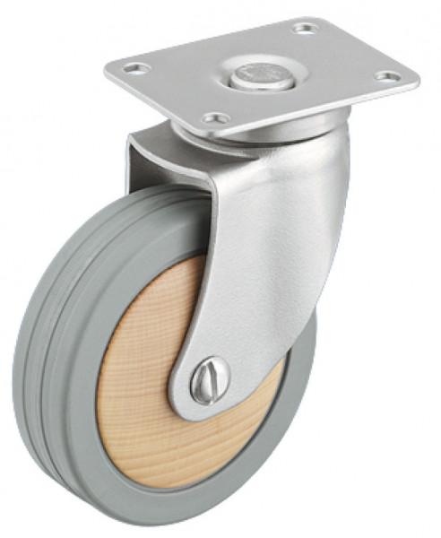 Häfele Design-Möbelrolle H4821 Tragkraft 55-70 kg Stahl/Buche