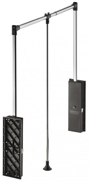 Häfele Garderobenlift Professional Kleiderlift Tragkraft bis 15 kg schwarz / vernickelt