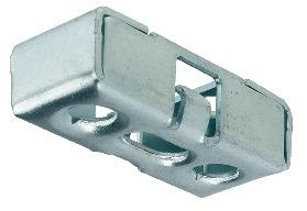 Häfele Verbinderkomponente Unterteil RV/U-T3 mit Rastfunktion mit Toleranzausgleich ±1,5 mm