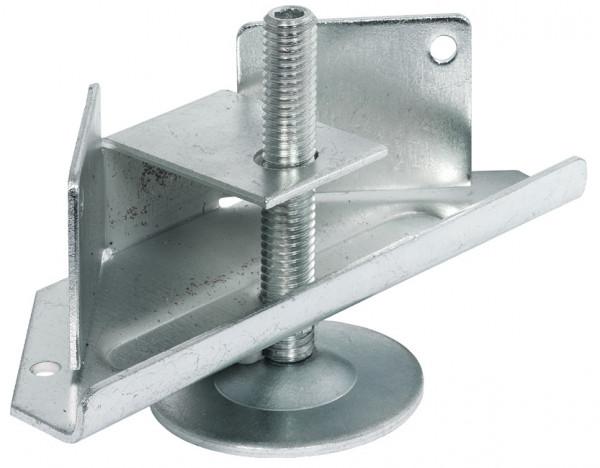Häfele Sockelhöhenversteller H3931 mit Auflagewinkel zum Einnuten und Schrauben Tragkraft 150 kg Sta