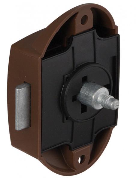 Riegelschloss PUSH-LOCK mit Druckknopf-Verriegelung einseitig