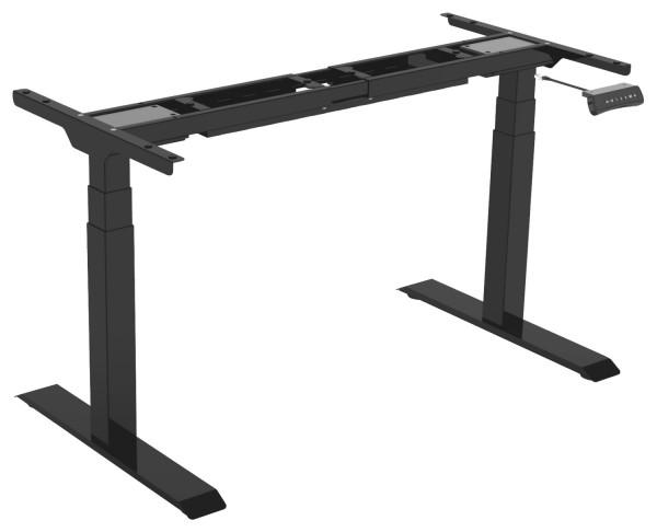 Tischgestell Econo elektronisch höhenverstellbar 550-1230 mm Tiefschwarz