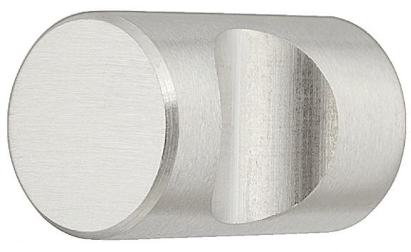 Häfele Möbelknopf H2011 mit Griffmulde Edelstahl matt gebürstet