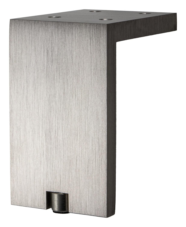 Häfele Möbelfuß Sockelfuß Aluminium Bettfuß 50-200 mm Anschraubfuß Möbel-Füße