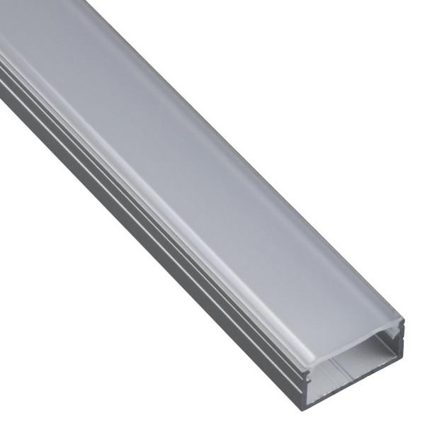 Loox LED-Profil aus Aluminium 18x8,5x2500 mm