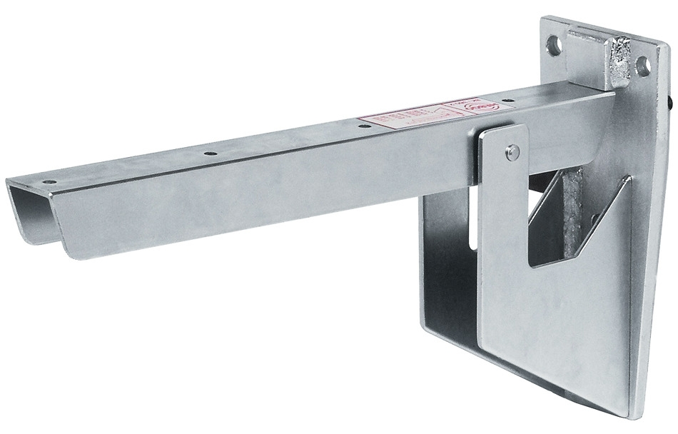Hebgo Klappkonsole klappbar Klappträger grau Schwerlastkonsole 500 kg Sitzbank