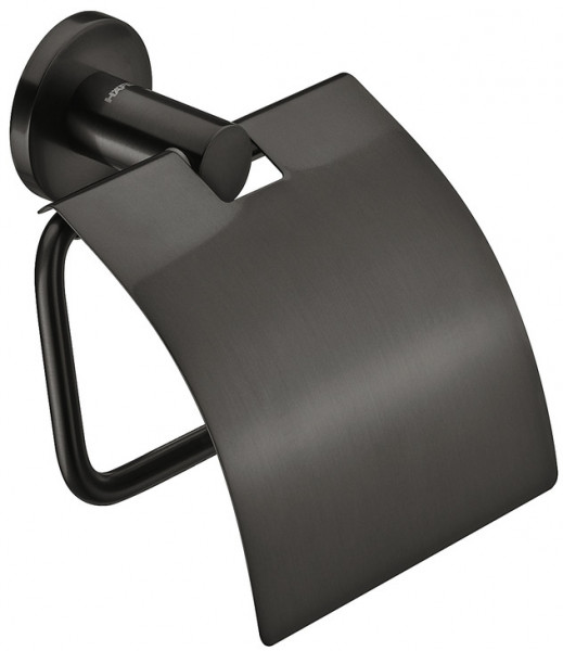 Häfele Toilettenpapierhalter mit Deckel H4051 graphit-schwarz
