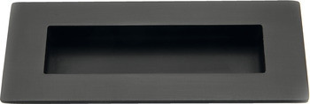 Häfele Muschelgriff H10188 Alpine Style Einlassgriff 120x50 mm antik schwarz matt