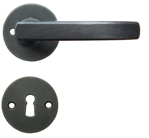 Häfele Startec Drückergarnitur Antik Rosettengarnitur Modell FRANKFURT Ö-NORM Antik schwarz