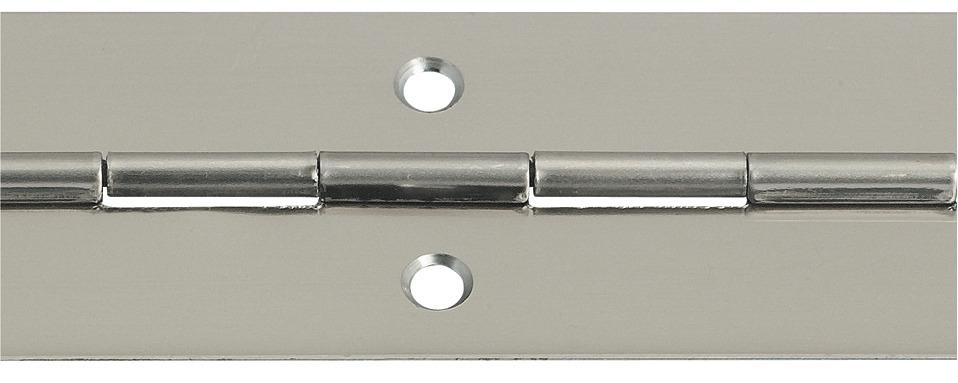 1 St/ück Gedotec T/ür-Scharnier zum Schrauben Klavierband gerollt T/ürband zum Montieren 32 x 1200 mm Stahl vernickelt