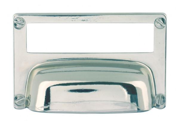 Häfele Etikettengriff H1754 Etikettengröße 75x18 mm Stahl vernickelt