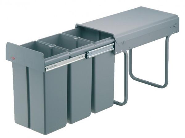 Häfele Dreifach-Abfallsammler 3 x 10 Liter für Montage hinter Drehtüren