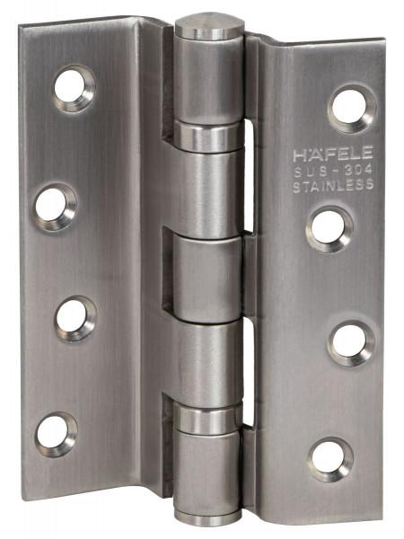 Häfele Aufschraubband für gefälzte Türen bis 58 kg Größe 102 Edelstahl matt