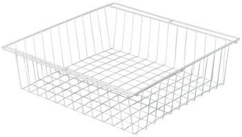 Häfele Drahtkorb für Gleitführung zur Montage hinter Drehtüren Ausziehkorb Stahl weiß