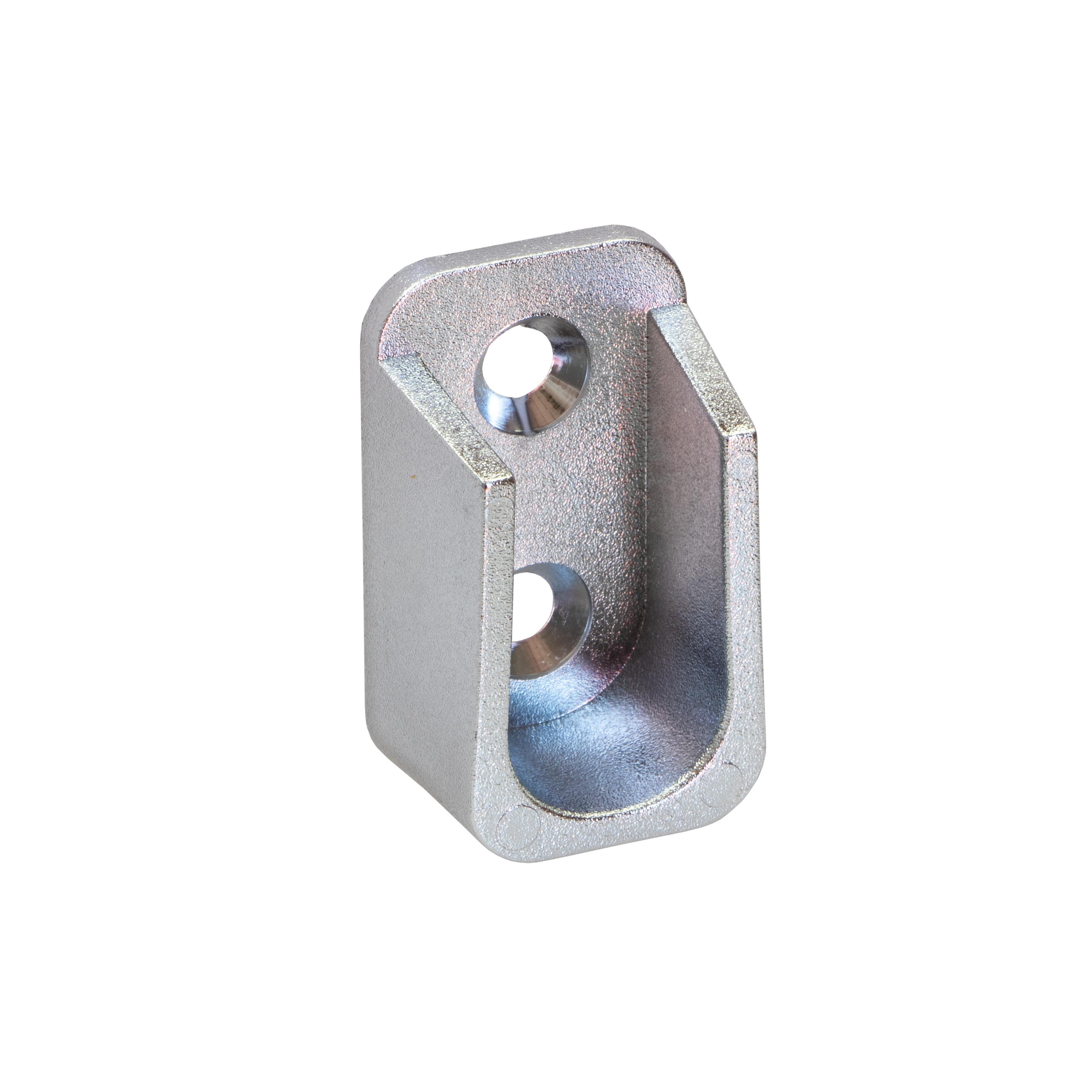 Häfele Schrankrohrlager oval H7585 für Schrankrohr OVA 30 x 15 mm Kunststoff verchromt poliert zum S