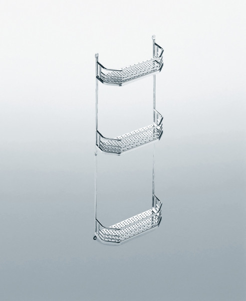 Kesseböhmer Türregal für Badezimmerschränke Stahl verchromt