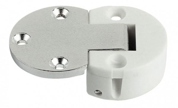 Häfele Klappenscharnier Plano Medial weiß Ø 30 mm