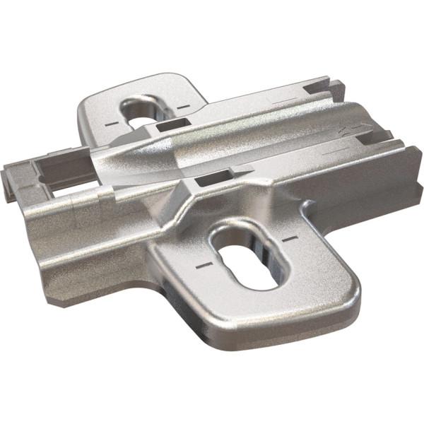 Hettich Kreuzmontageplatte Sensys 8099 zum Anschrauben Stahl vernickelt