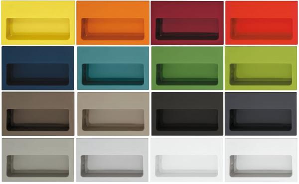 Muschelgriff 539 aus Kunststoff viele Farben
