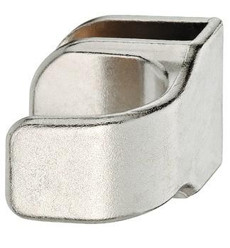 Häfele Glastürgriff H1036 Möbelgriff zum Aufklemmen für Glasdicke 4-6 mm vernickelt matt