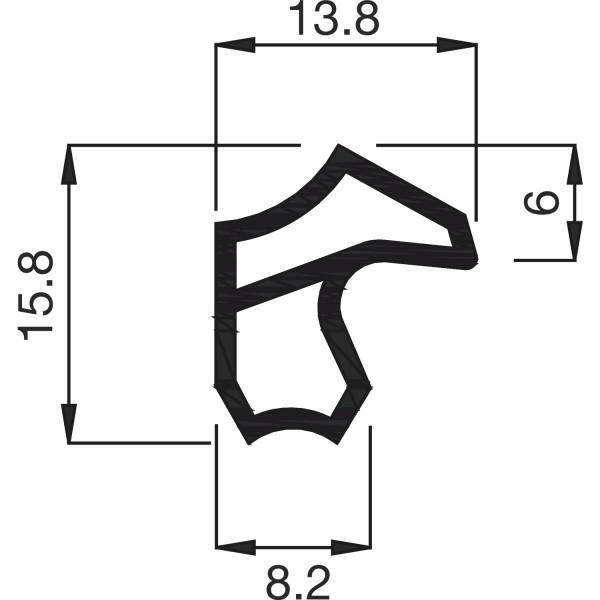 Deventer Stahlzargendichtung M2246 Kunststoff 5 Meter verschiedene Farben