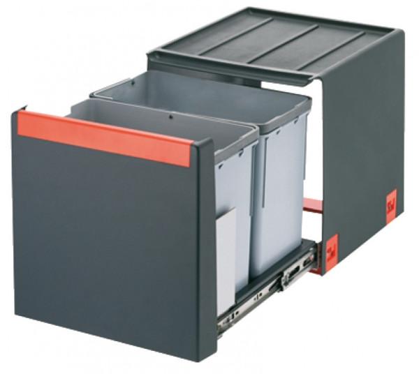 Franke Doppel-Abfallsammler Cube 2x14 Liter Kunststoff grau