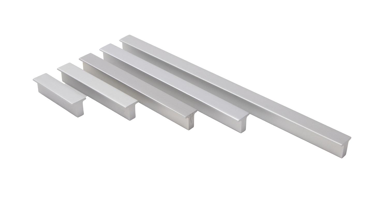Häfele Möbelgriff H1004 Steggriff Aluminium silberfarben eloxiert