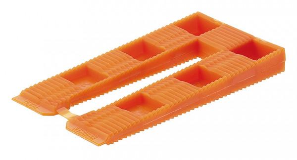 Knudsen Distanzkeile orange zum Ausgleichen von Konstruktionen