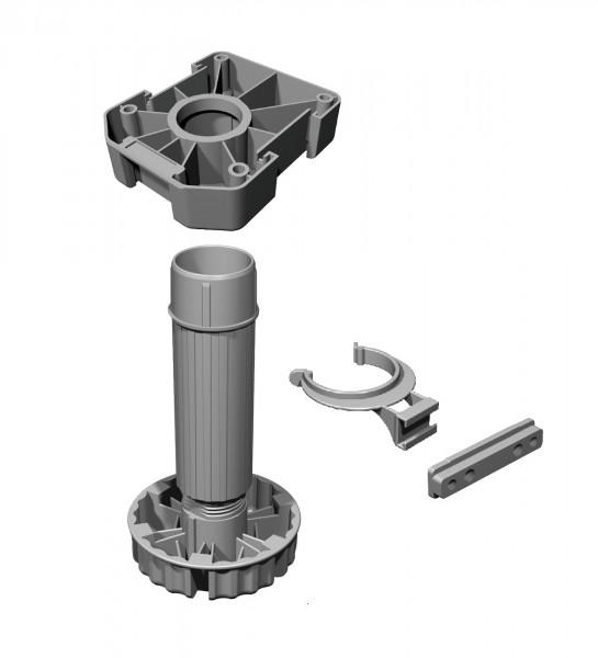 Häfele Sockelverstellfuß H3900 Kunststoff Verstellfüße Komplett-Set