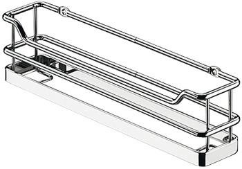 Kesseböhmer Einbaukorb allseitig geschlossen Korb 260x63 mm Stahl verchromt mit Acrylglasboden