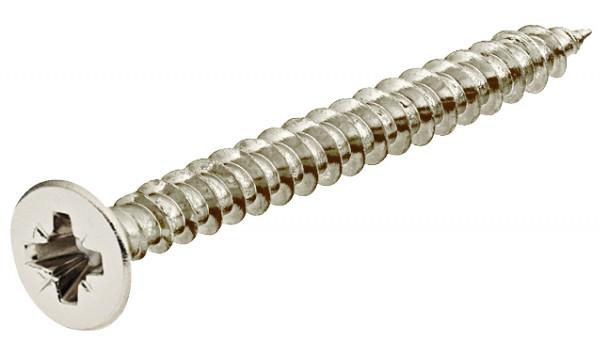 Häfele Spanplattenschrauben Hospa Ø 5,0mm Kreuzschlitz, Vollgewinde verzinkt Senkkopf verschiedene L