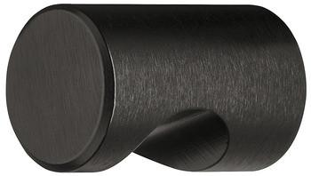 Möbelknopf LINA BLACK aus Aluminium mit Griffmulde schwarz