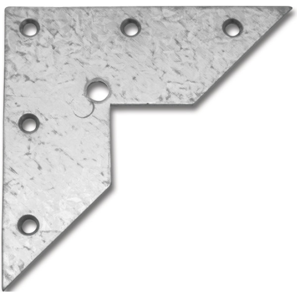 Aufhängeöse zum Schrauben 100x100x2,0 mm Stahl verzinkt