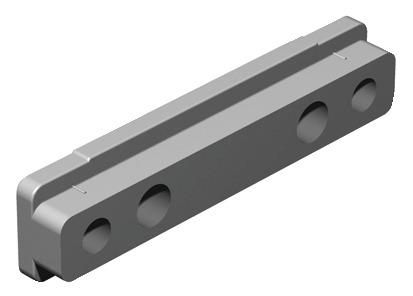Häfele Sockelverstellfuß H3949 HE Blendenhalter mit 2 Senkbohrungen zum Anschrauben