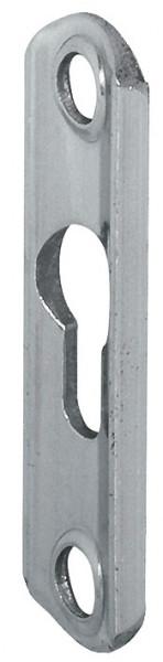 Häfele Einhängebeschlag Linsenkopfplatte Stahl blank mit 1 Langloch