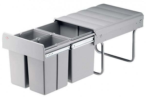 Häfele Dreifach-Abfallsammler 1 x 16 und 2 x 8 Liter Montage hinter Drehtüren