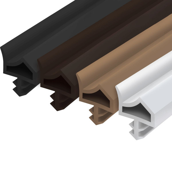 Zimmertürdichtung M3967 aus PVC für Innentüren mit günstigem Drehpunkt