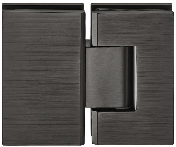 Häfele Duschtürband 180° H2048 Messing graphit-schwarz