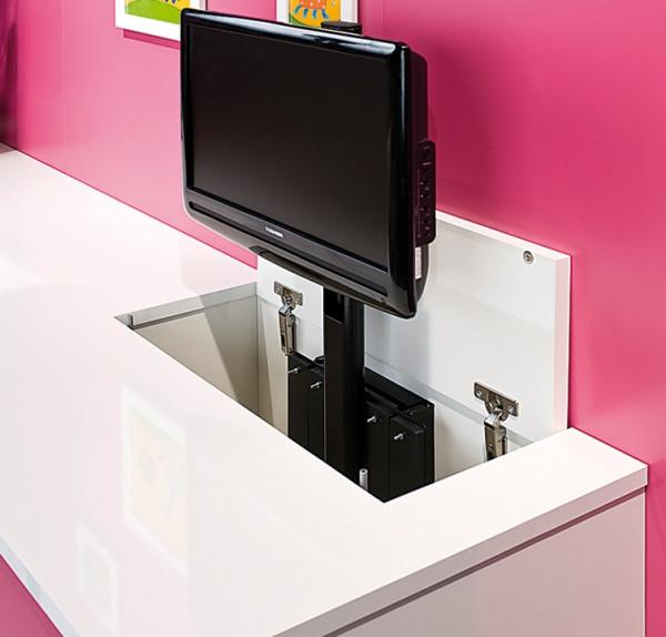 Häfele Manuelles Hebesystem TV-Lift Push drehbar Versenkautomatik Hub 528 mm