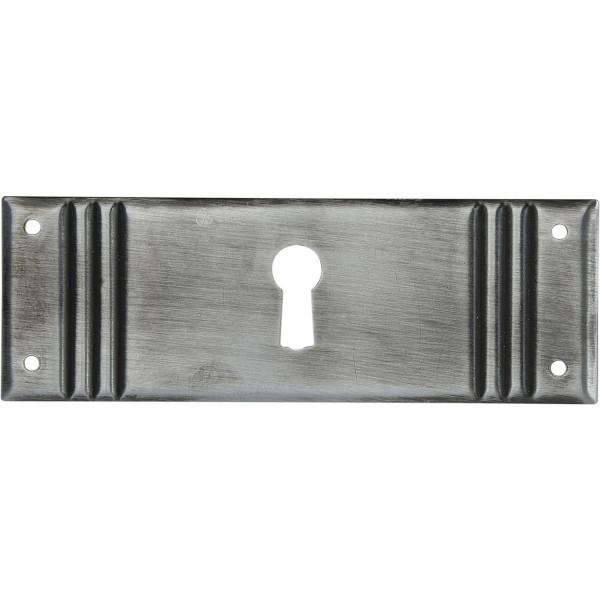 Schlüsselschild Landhausstil messing geprägt Möbelschild groß liegend 96 x 33 mm