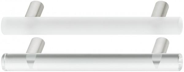 Häfele Möbelgriff H1090 Sockelgriff Glas / Edelstahl Bohrabstand 128 mm