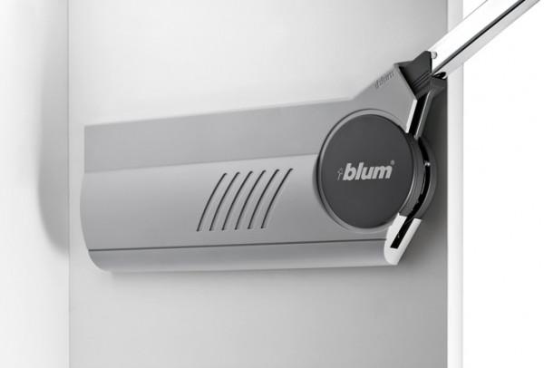 Blum Hochfaltbeschlag Aventos HF Klappenbeschlag für zweiteilige Klappen - Abdeckkappen hellgrau