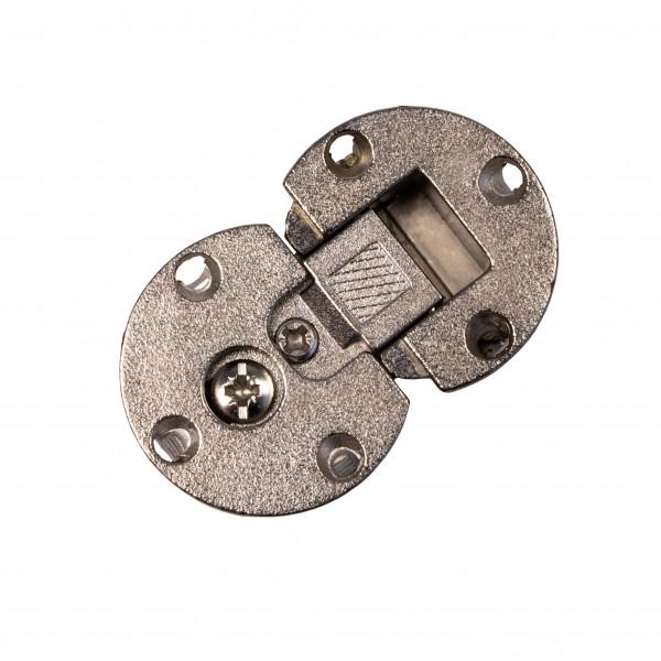 Klappenscharnier 3D verstellbar Ø 35 mm aus Stahl vernickelt