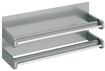 Häfele Rollenhalter für Aluminium- und Frischhaltefolie Relingsystem magnetisch Stahl