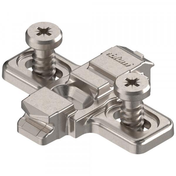 Blum Clip Top Kreuzmontageplatte mit Euroschrauben