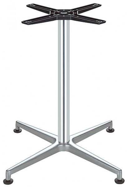 Häfele Tischgestell mit Fußkreuz Höhe 720 mm aus Aluminium