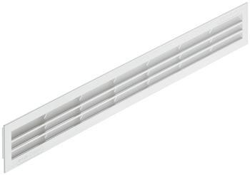 Häfele Lüftungsgitter H3628 eckig 60x515 mm Kunststoff weiß mit Lamellen